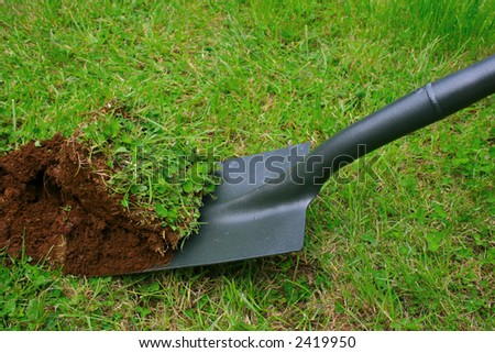 Digging up the past - stock photo