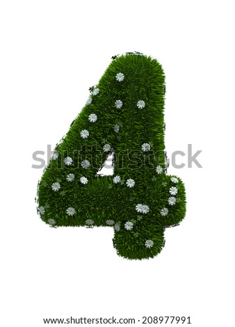 digit number 4 - stock photo