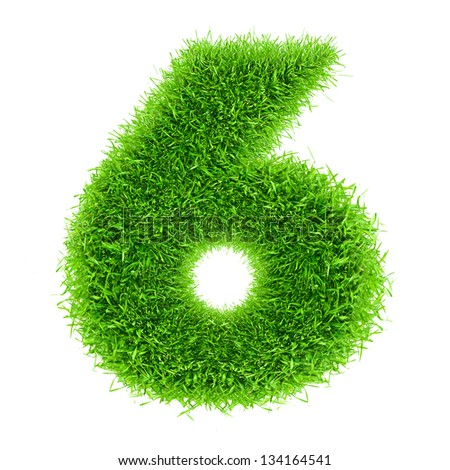 digit symbol 6 of grass alphabet