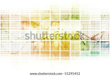 Digital Abstract Data Media As a Art - stock photo