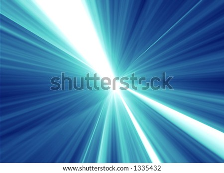 Digital abstract explosion - stock photo