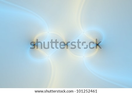 Digital abstract image in blue and beige