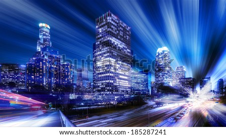 Digital abstract of Los Angeles  - stock photo