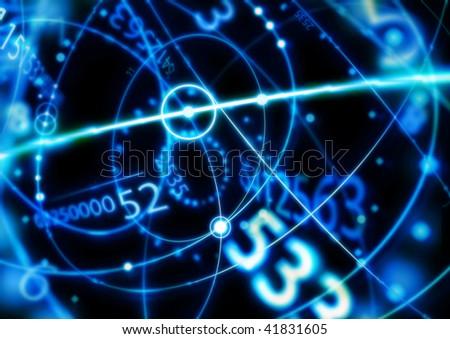 digital abstract wallpaper - stock photo