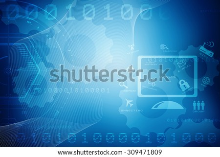 Digital Abstrct technology background - stock photo