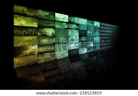 Digital Advertising on the Web and Internet Media - stock photo
