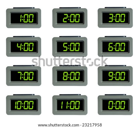 digital alarm clock - stock photo