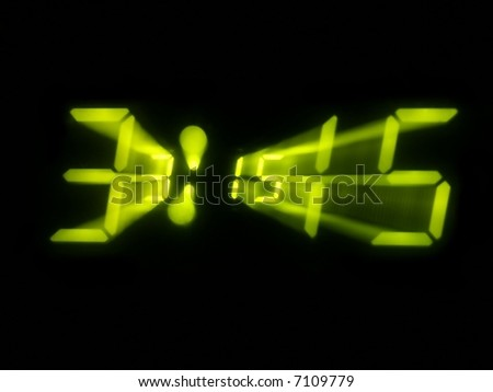 Digital alarm clock with zooming effect - stock photo