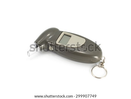Digital Alcohol Breath Tester Breathalyzer Analyzer Detector - stock photo