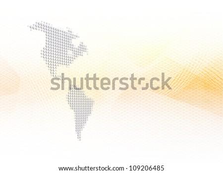 Digital Americas - stock photo