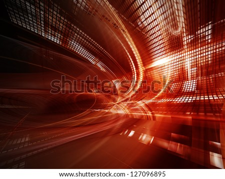 Digital art abstract red background design - stock photo