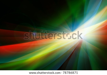 Digital art background in red and green colors - stock photo