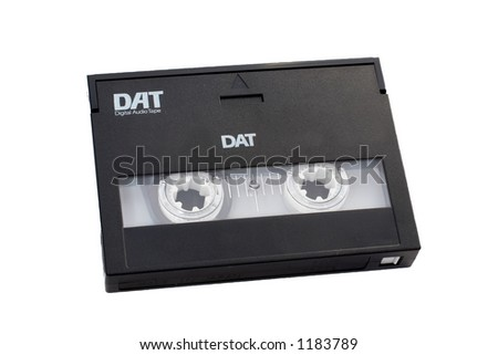 Digital audio tape DAT with clipping path included. - stock photo
