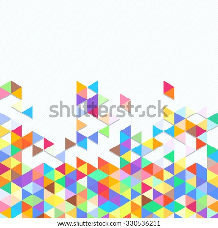 Digital background of different color chaotic elements - stock photo