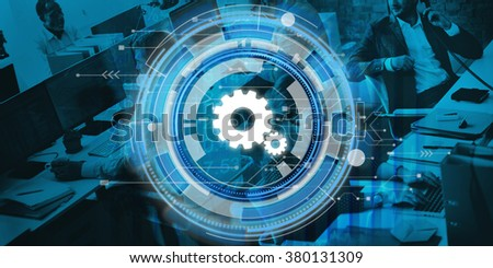 Digital Blue Hud Interface Design Concept - stock photo