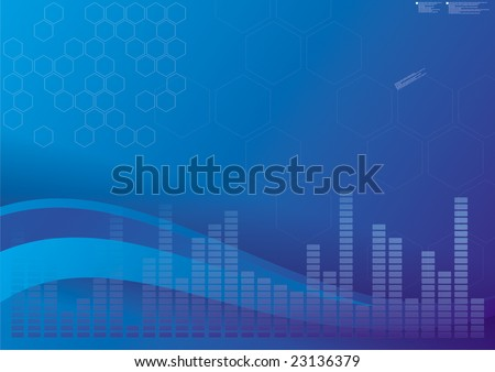 digital blue wallpaper - stock photo