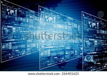 digital business background - stock photo