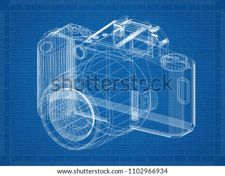 Digital camera architect blueprint stock illustration 1102966934 digital camera architect blueprint malvernweather Choice Image