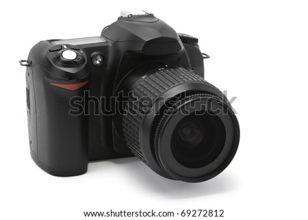 digital camera isolated on a white - stock photo