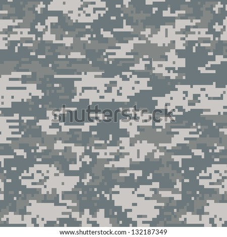 Digital camouflage seamless pattern background - stock photo