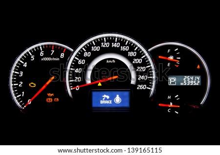 Digital car indicator - stock photo