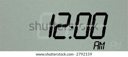 Digital Clock Readout - stock photo