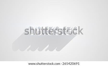 digital clock timer on white with long shadows - stock photo