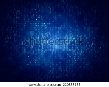 Digital Code Background - stock photo