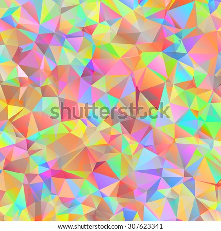 Digital colorful pattern with messy triangles grid - stock photo