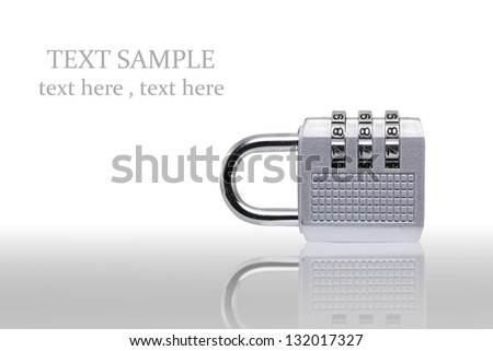 Digital combination lock on white background (with clipping path