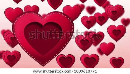 Digital composite of Stitched Valentines Heart