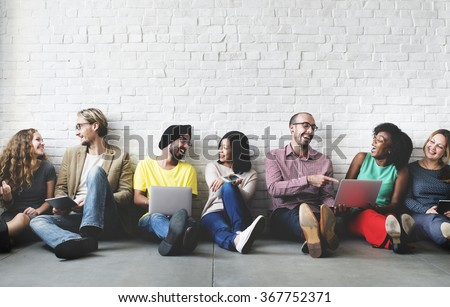 Digital Connection Technology Networking Team Concept - stock photo