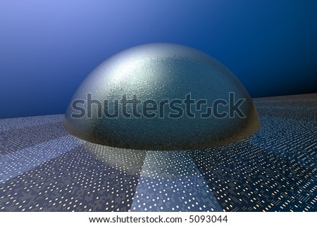 Digital core - 3D render illustration of abstract techno background - stock photo