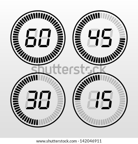 Digital Countdown Timer - stock photo