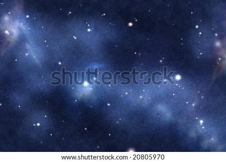 Digital created starfield with cosmic Nebula