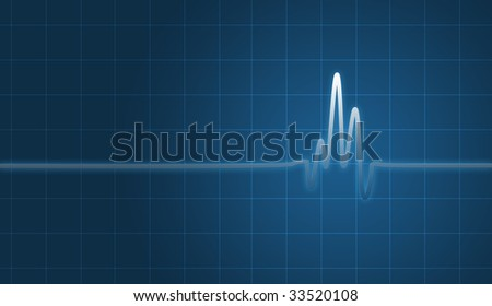 digital creation of an EKG chart showing heartbeat. - stock photo