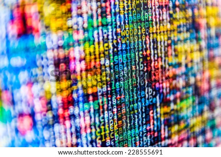 Digital cyber pattern. Abstract data bits stream background.  - stock photo