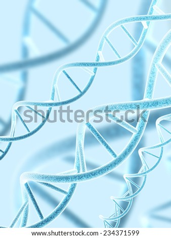 Digital 3d model of DNA structure - stock photo