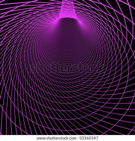 Digital 3d tunnel - stock photo