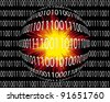 Digital danger: Hacker attacks are threatening the digital world - stock photo