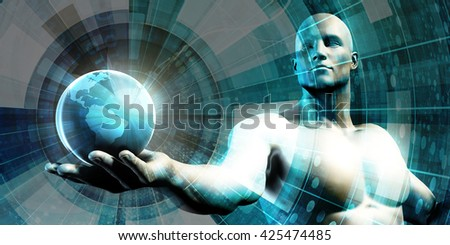 Digital Data Abstract as a Technology Concept 3D Illustration Render