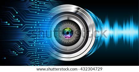 digital data background,blue abstract light hi tech pixel internet technology, Cyber security concept, Cyber digital, Cyber computer, Cyber background,cyber data, eye scan virus - stock photo