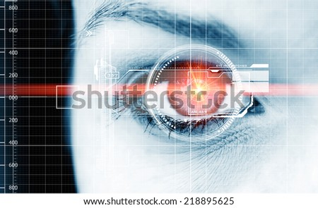 Digital data eye  - stock photo