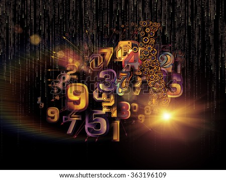 Digital Data series. Abstract design made of numbers and design elements on the subject of science, education and modern technology - stock photo