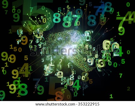 Digital Data series. Composition of numbers and design elements on the subject of science, education and modern technology - stock photo