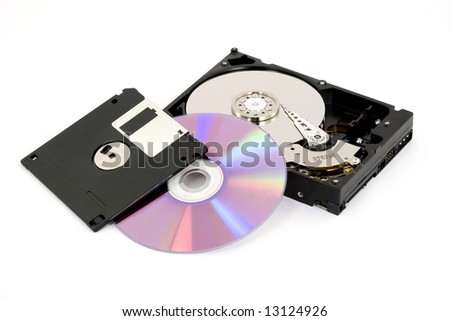 digital data storage studio isolated