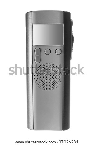 Digital Dictaphone on White Background