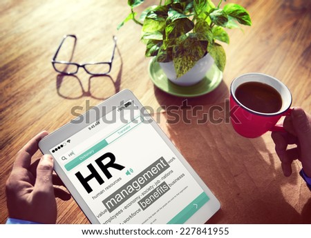 Digital Dictionary Human Resources Management Concept - stock photo