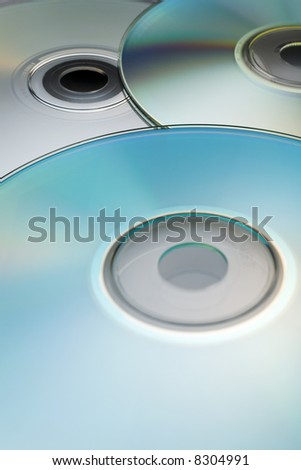 Digital discs background (cd cdr and dvd) - stock photo