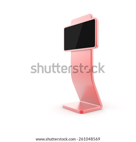 Digital display, isolated on white, copy space image, blank screen, original 3d model. - stock photo